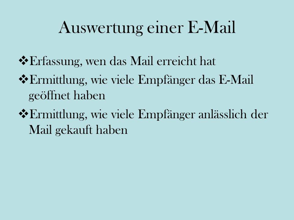 Auswertung einer E-Mail