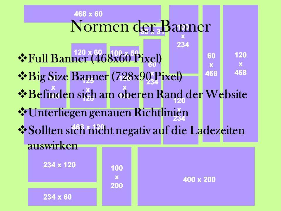 Normen der Banner Full Banner (468x60 Pixel)