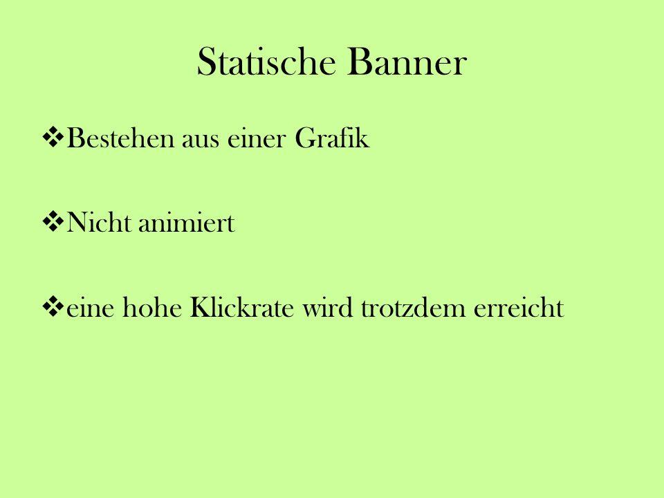 Statische Banner Bestehen aus einer Grafik Nicht animiert