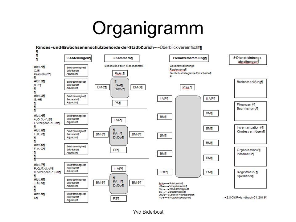 Organigramm Yvo Biderbost