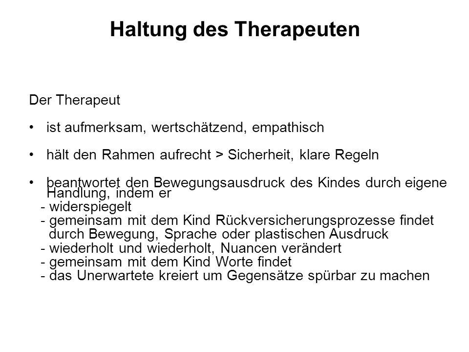 Haltung des Therapeuten