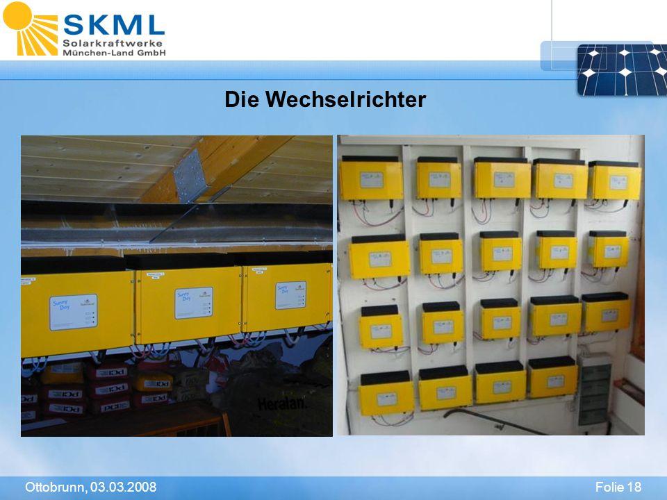 Die Wechselrichter Ottobrunn, 03.03.2008