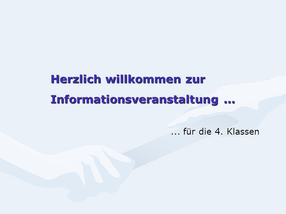 Herzlich willkommen zur Informationsveranstaltung ...