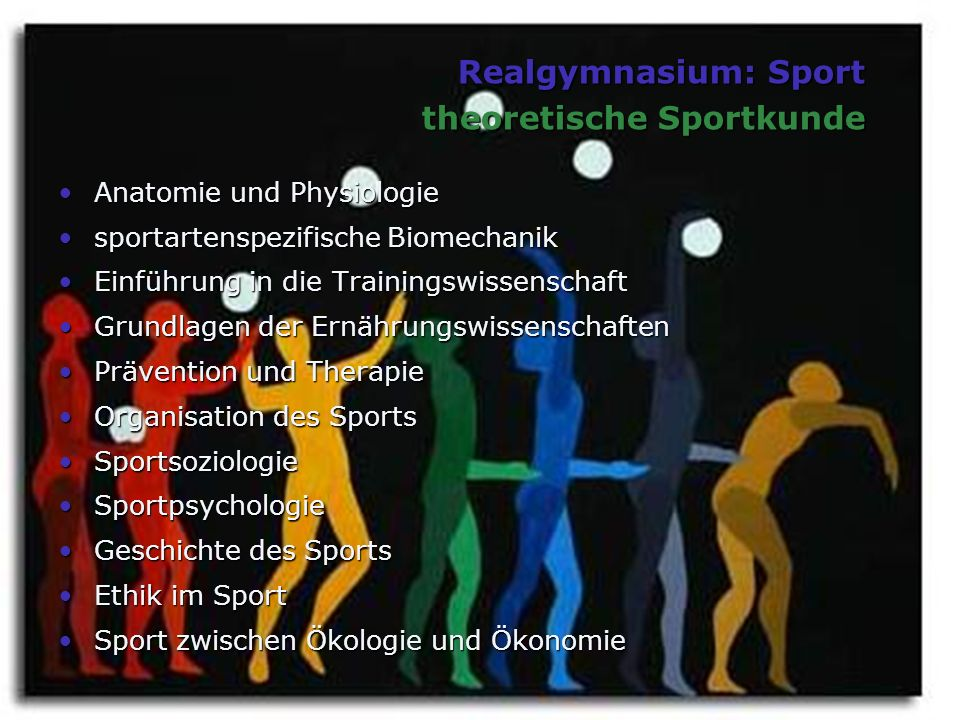 Realgymnasium: Sport theoretische Sportkunde
