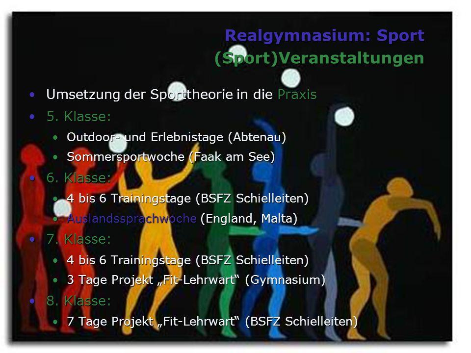 Realgymnasium: Sport (Sport)Veranstaltungen