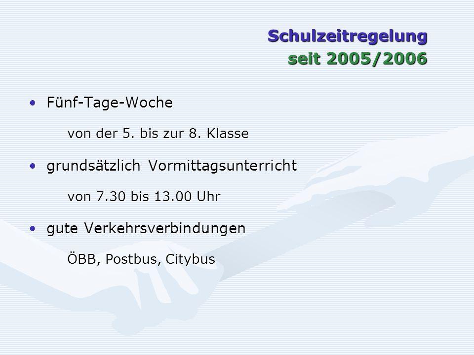 Schulzeitregelung seit 2005/2006