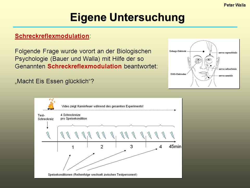 Eigene Untersuchung Schreckreflexmodulation: