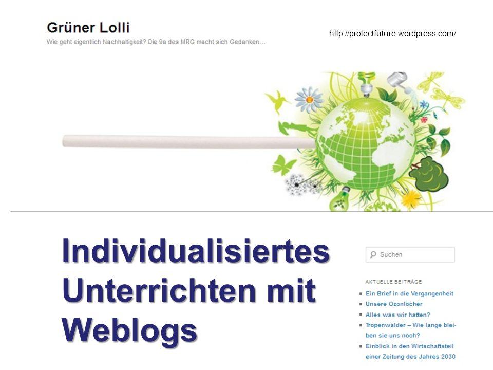 Individualisiertes Unterrichten mit Weblogs