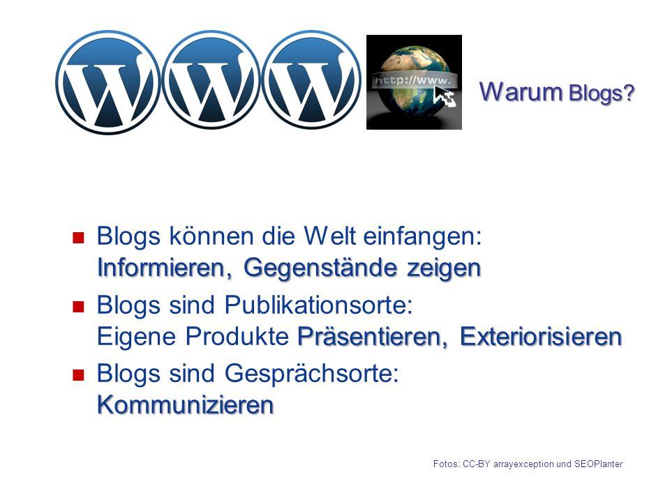Blogs können die Welt einfangen: Informieren, Gegenstände zeigen