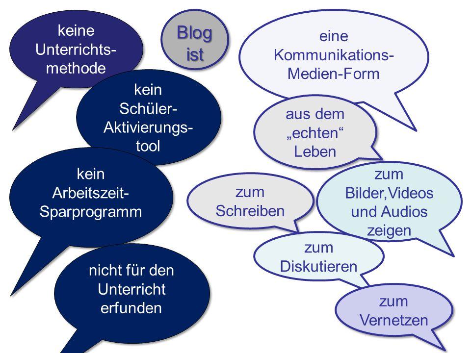 Blog ist keine Unterrichts-methode eine Kommunikations-Medien-Form