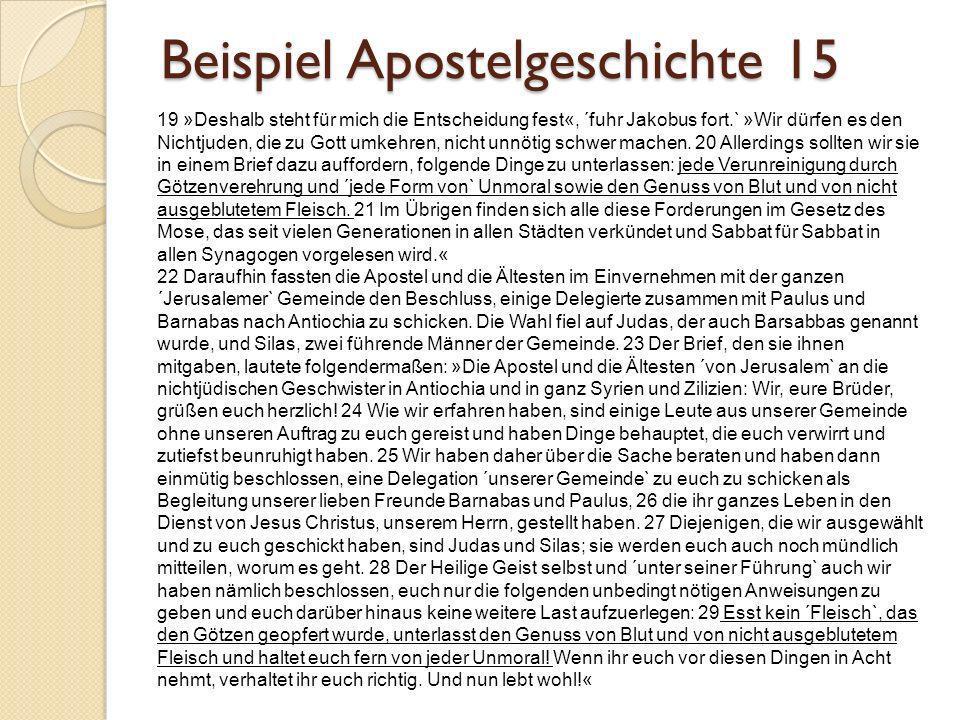 Beispiel Apostelgeschichte 15