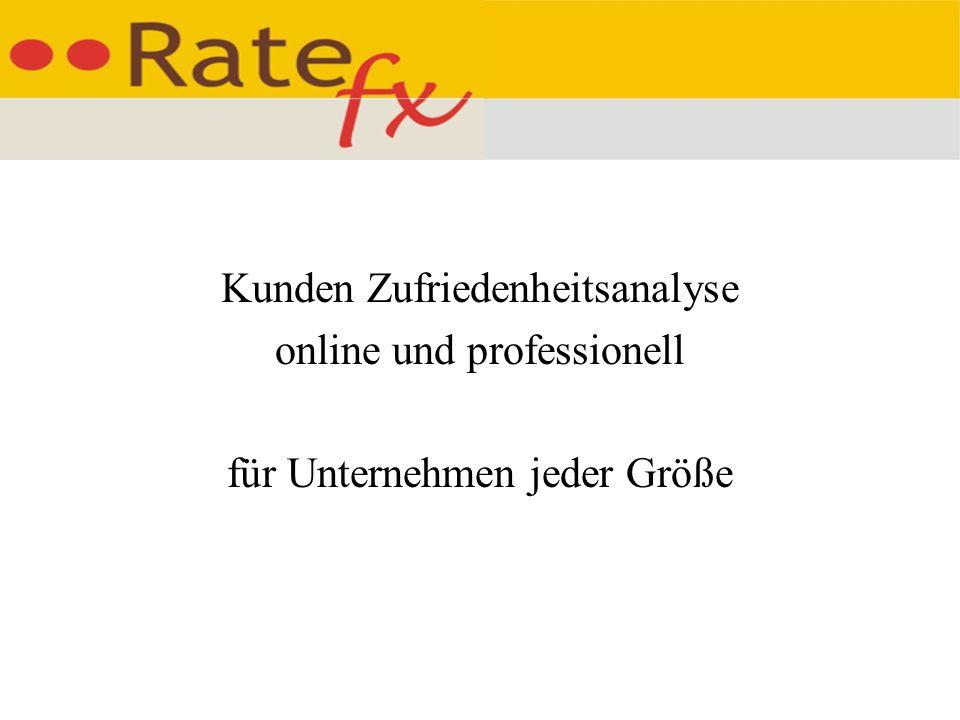 Kunden Zufriedenheitsanalyse online und professionell