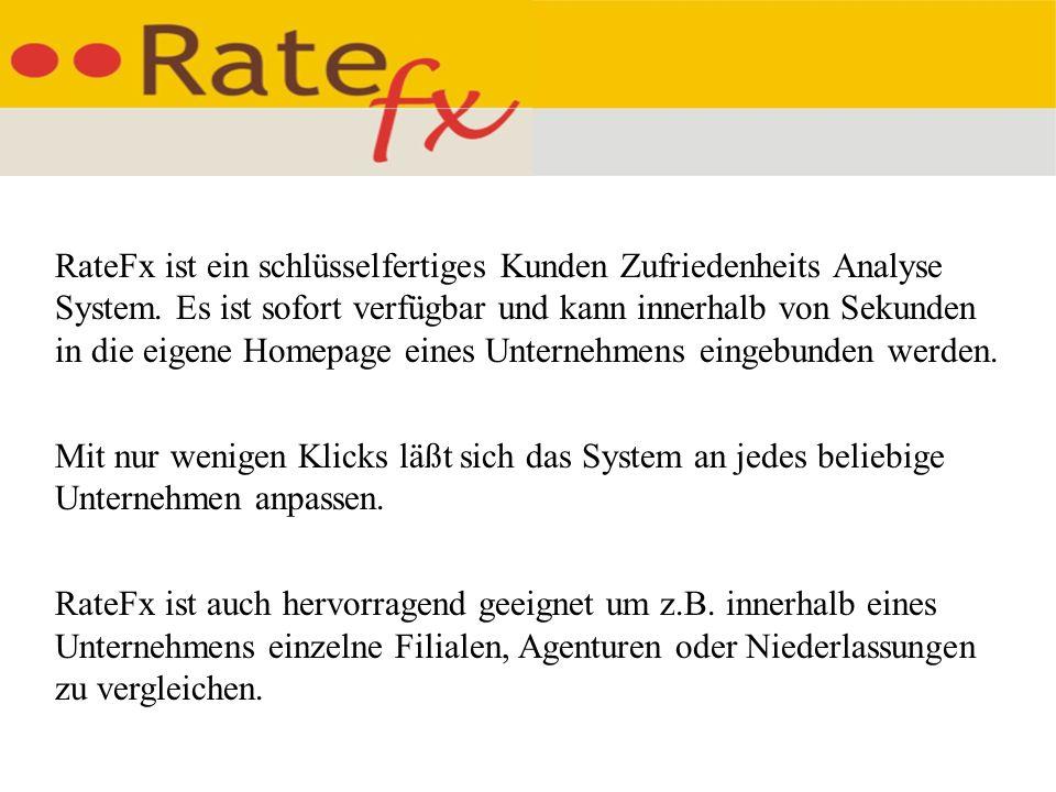 RateFx ist ein schlüsselfertiges Kunden Zufriedenheits Analyse System