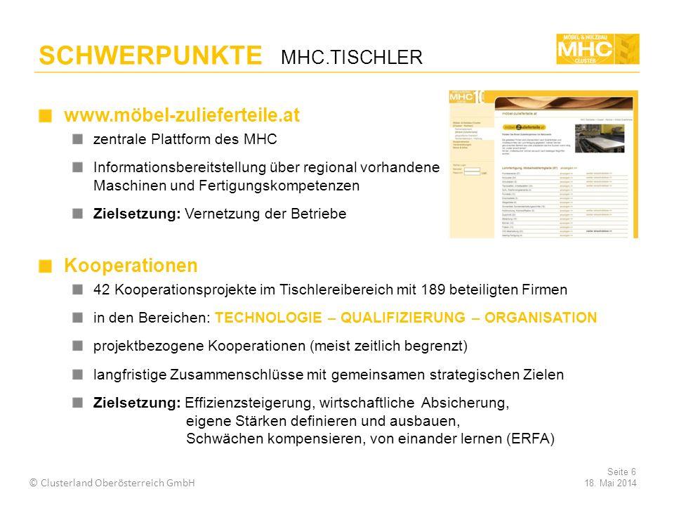 SCHWERPUNKTE MHC.TISCHLER