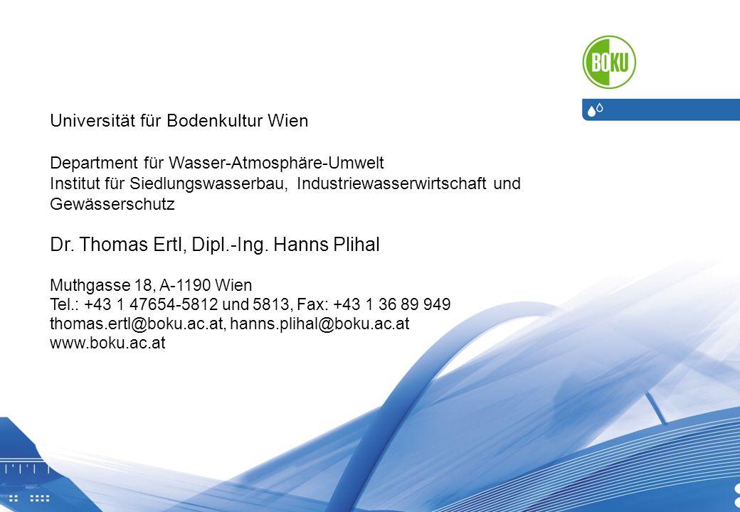 Dr. Thomas Ertl, Dipl.-Ing. Hanns Plihal