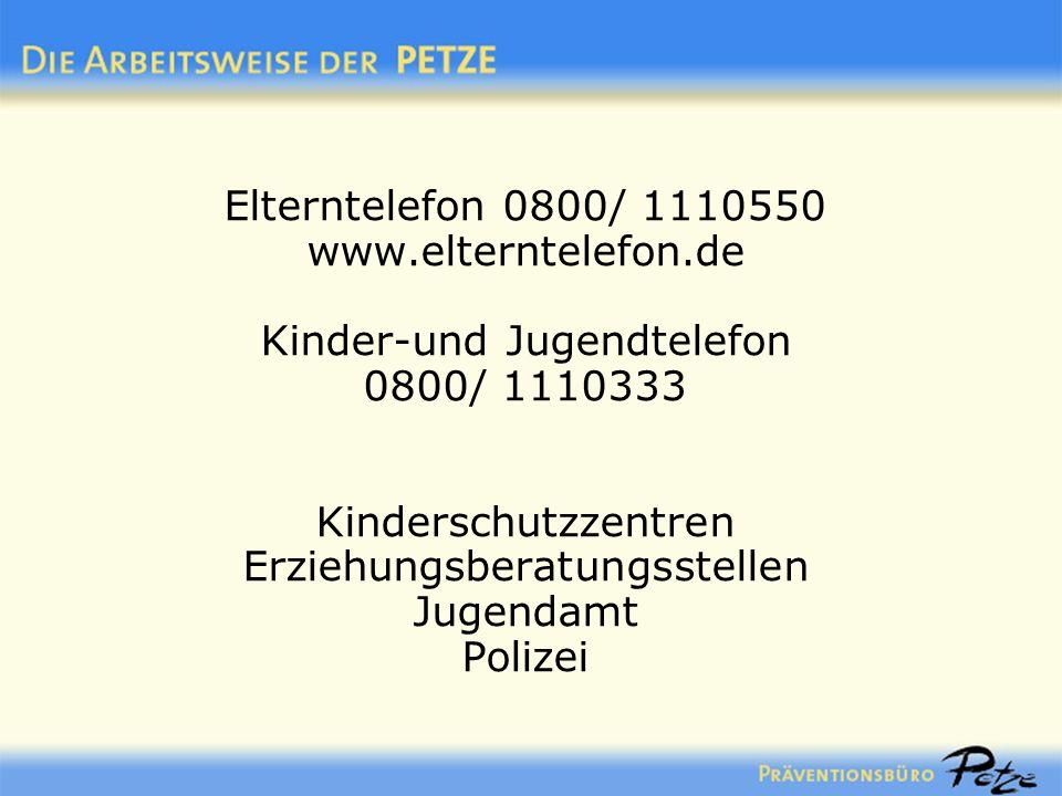 Elterntelefon 0800/ 1110550 www. elterntelefon