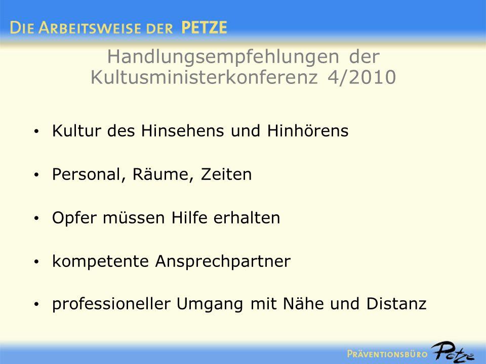 Handlungsempfehlungen der Kultusministerkonferenz 4/2010