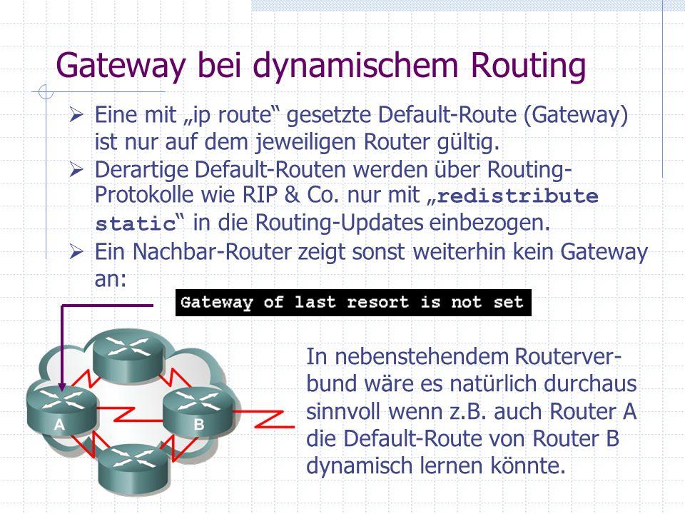 Gateway bei dynamischem Routing