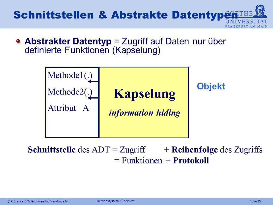 Schnittstellen & Abstrakte Datentypen