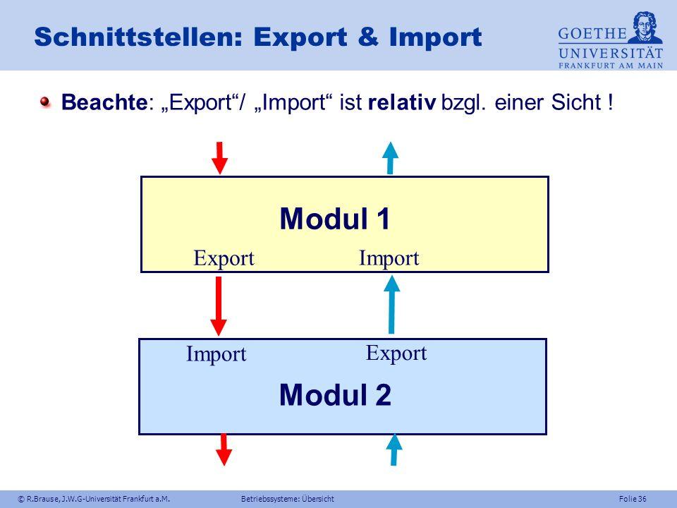 Schnittstellen: Export & Import