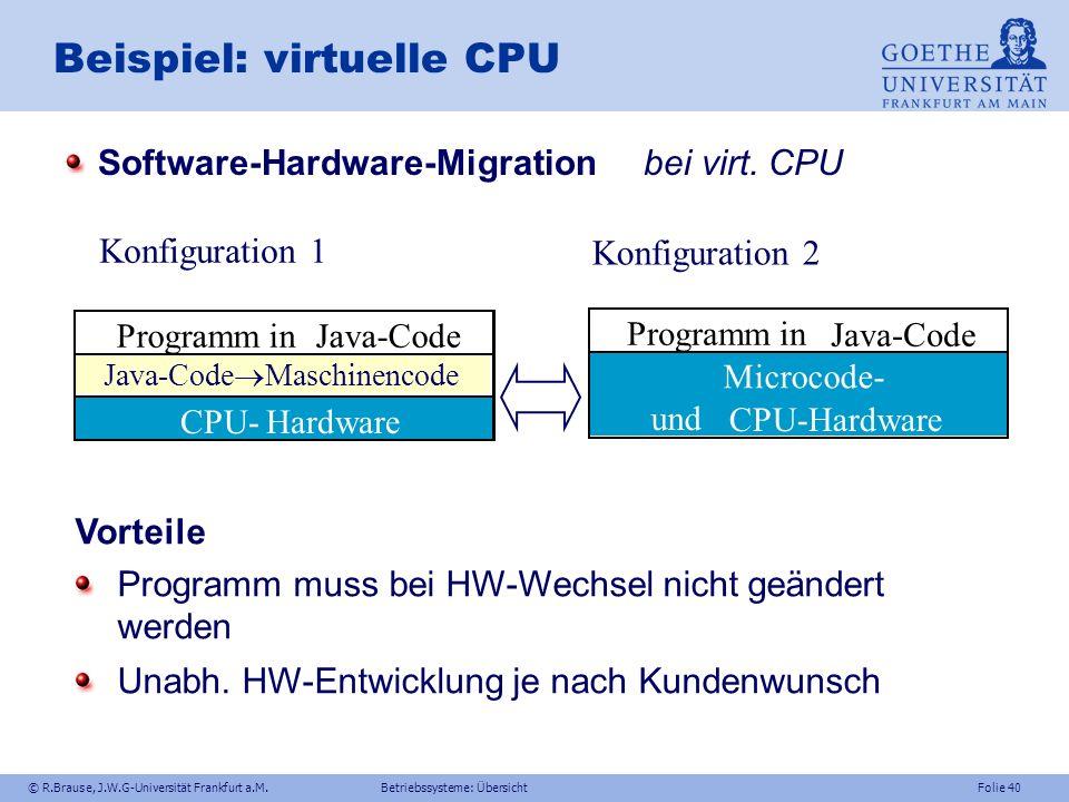 Beispiel: virtuelle CPU