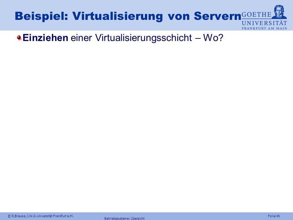 Beispiel: Virtualisierung von Servern