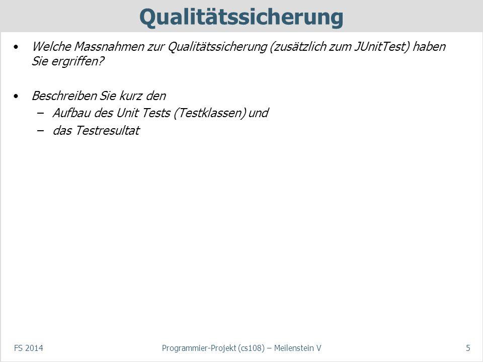 Programmier-Projekt (cs108) – Meilenstein V