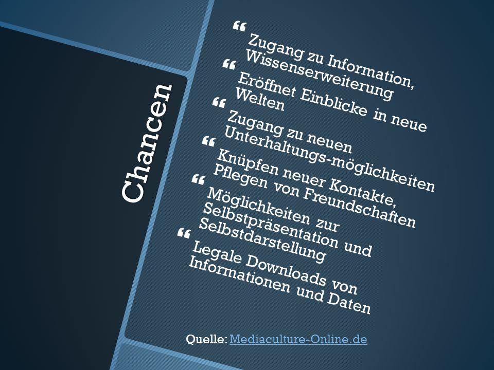Chancen Zugang zu Information, Wissenserweiterung