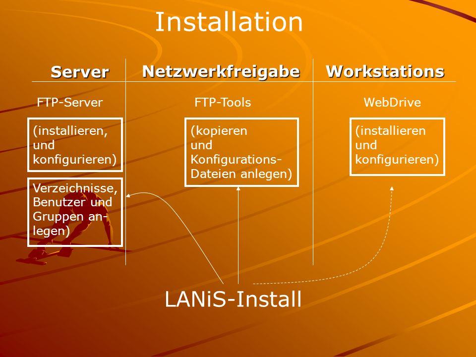 Installation LANiS-Install Server Netzwerkfreigabe Workstations