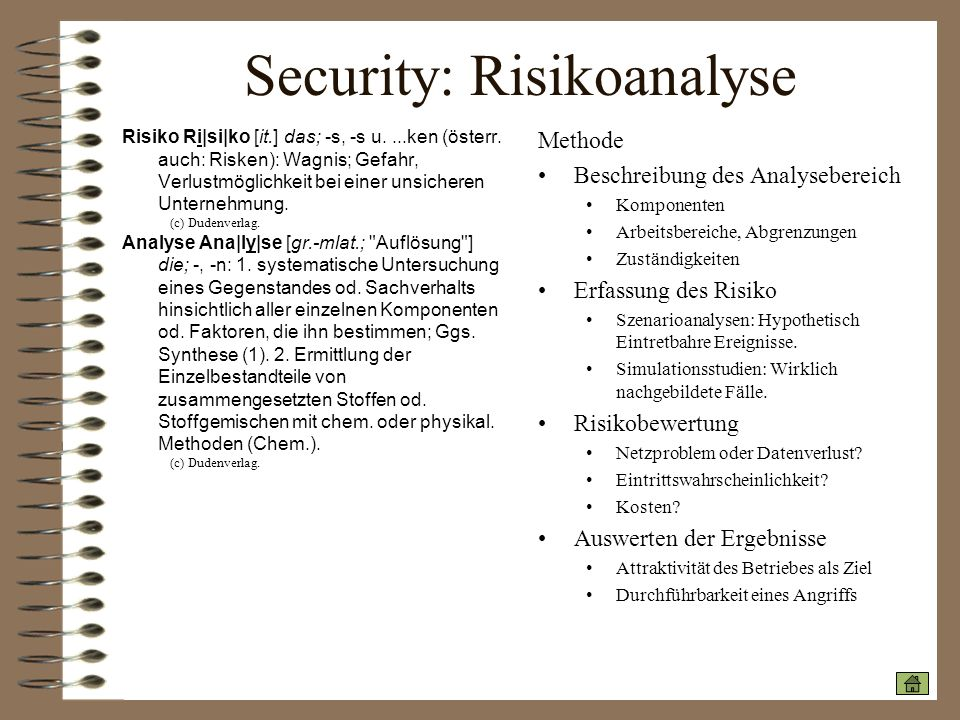 Security: Risikoanalyse