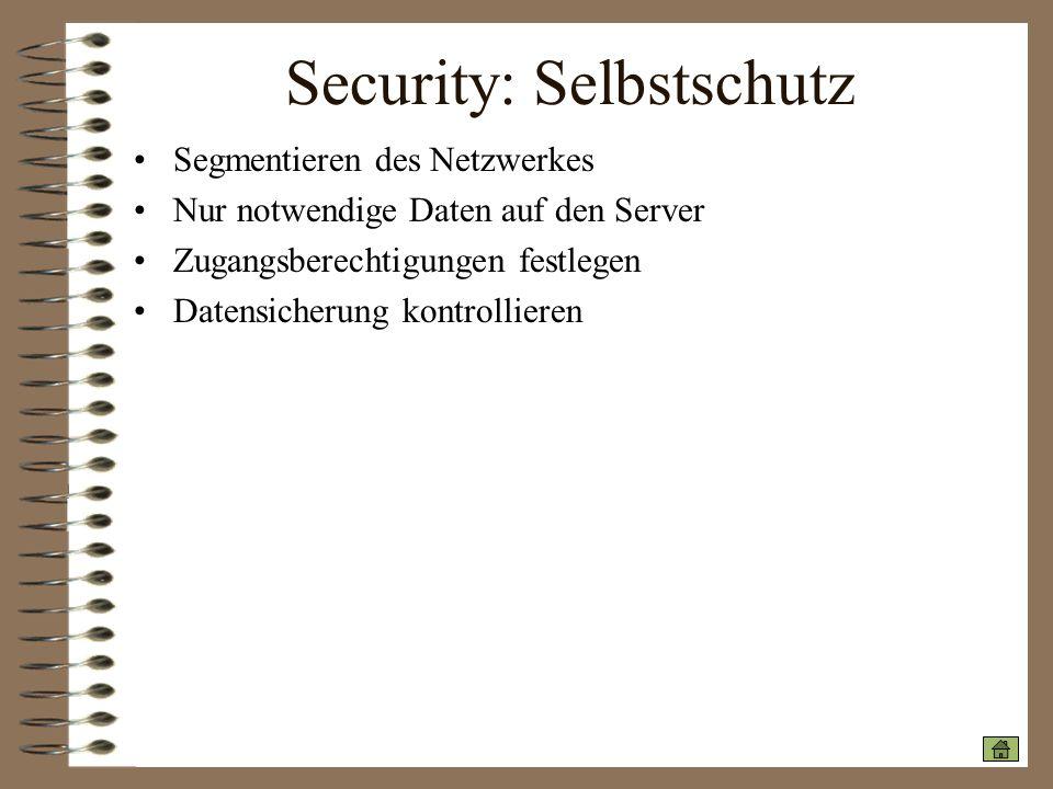 Security: Selbstschutz