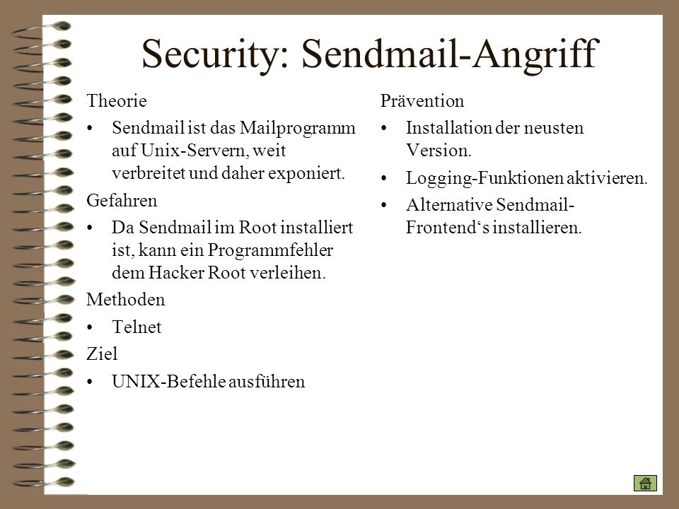 Security: Sendmail-Angriff