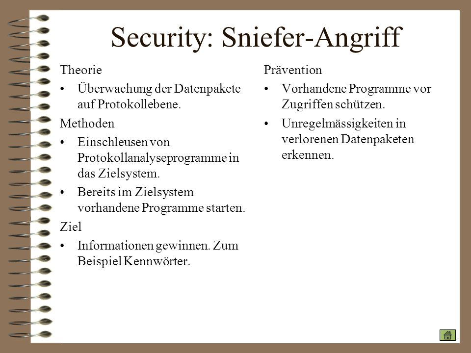 Security: Sniefer-Angriff