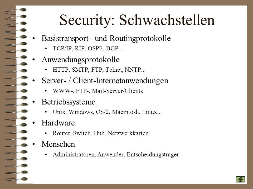 Security: Schwachstellen
