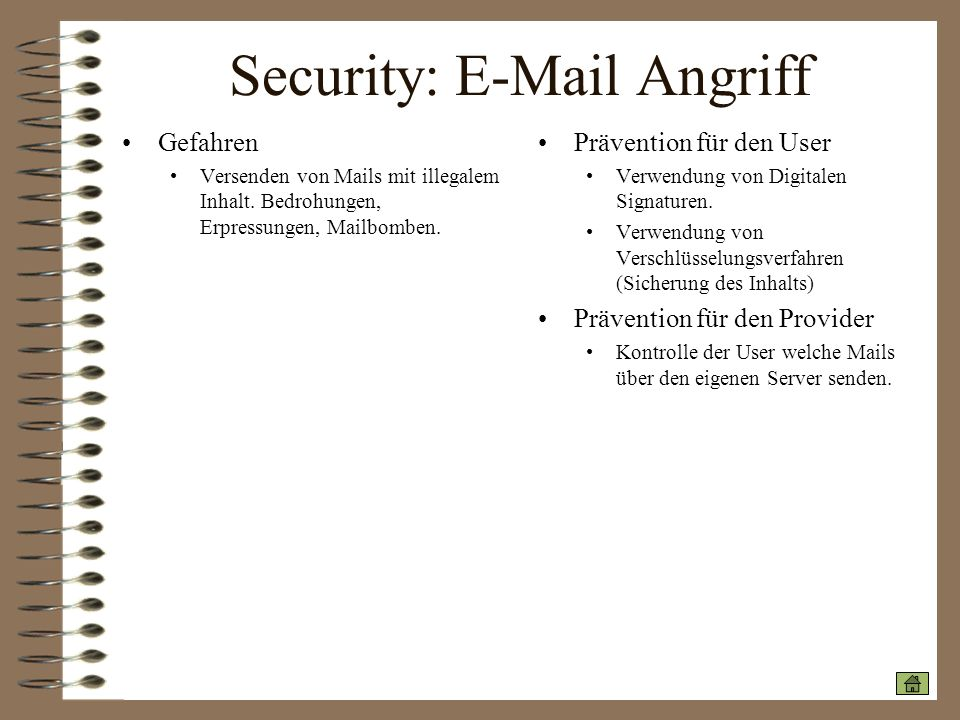Security: E-Mail Angriff