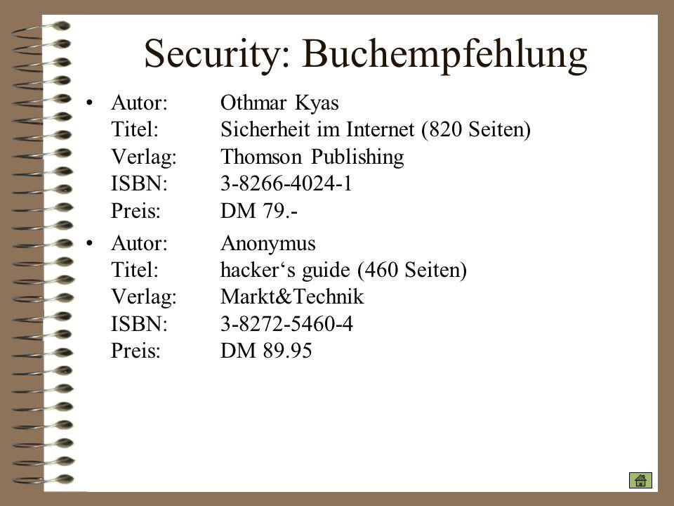 Security: Buchempfehlung