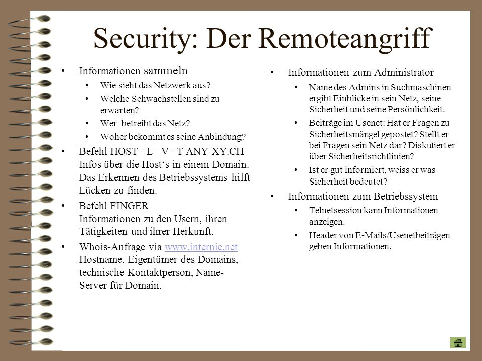 Security: Der Remoteangriff