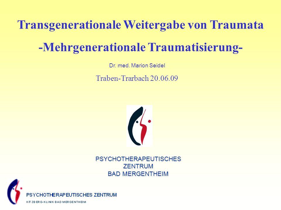 Transgenerationale Weitergabe von Traumata