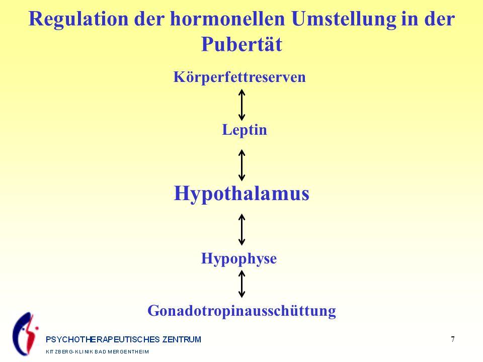 Regulation der hormonellen Umstellung in der Pubertät Hypothalamus