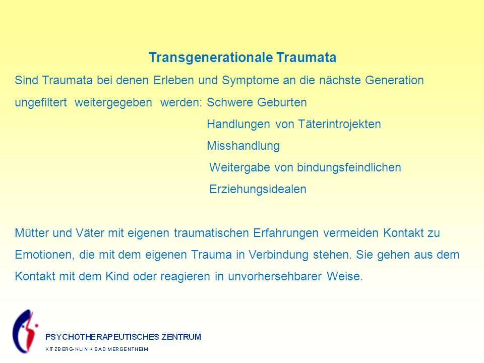 Transgenerationale Traumata