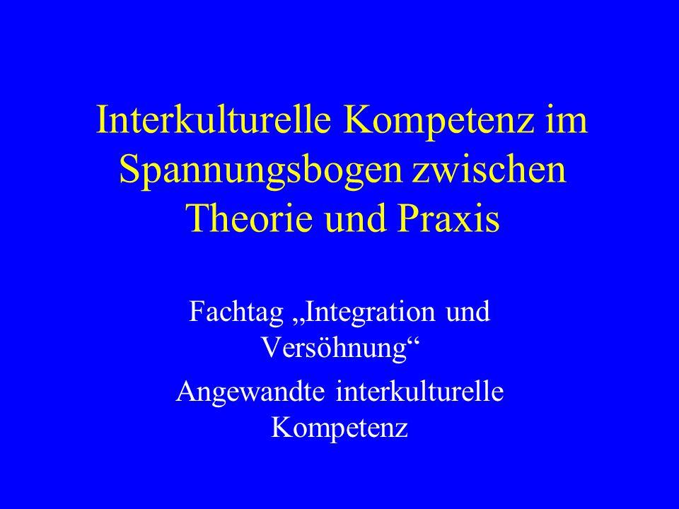 Interkulturelle Kompetenz im Spannungsbogen zwischen Theorie und Praxis