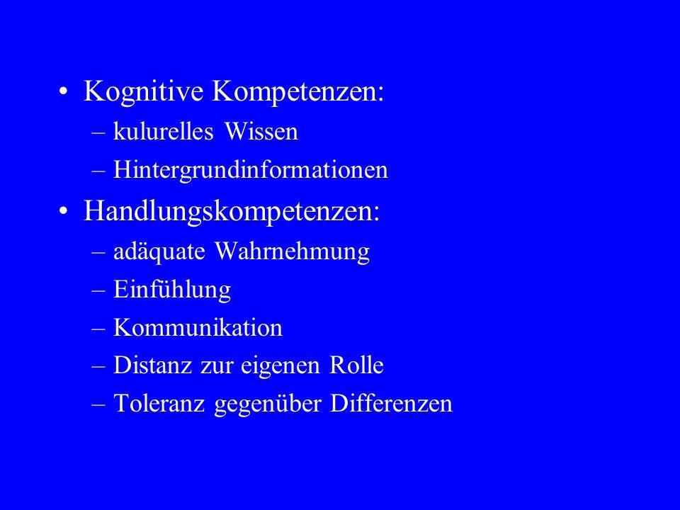 Kognitive Kompetenzen: