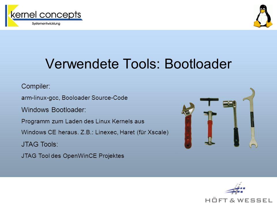 Verwendete Tools: Bootloader