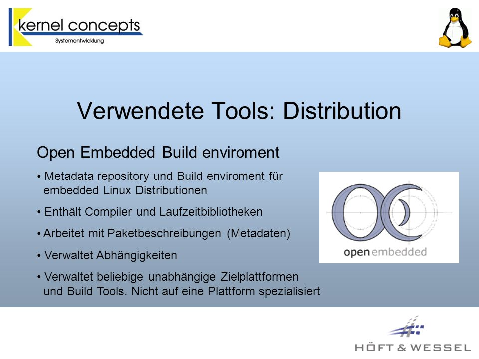 Verwendete Tools: Distribution