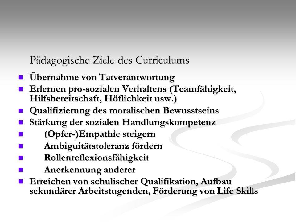 Pädagogische Ziele des Curriculums