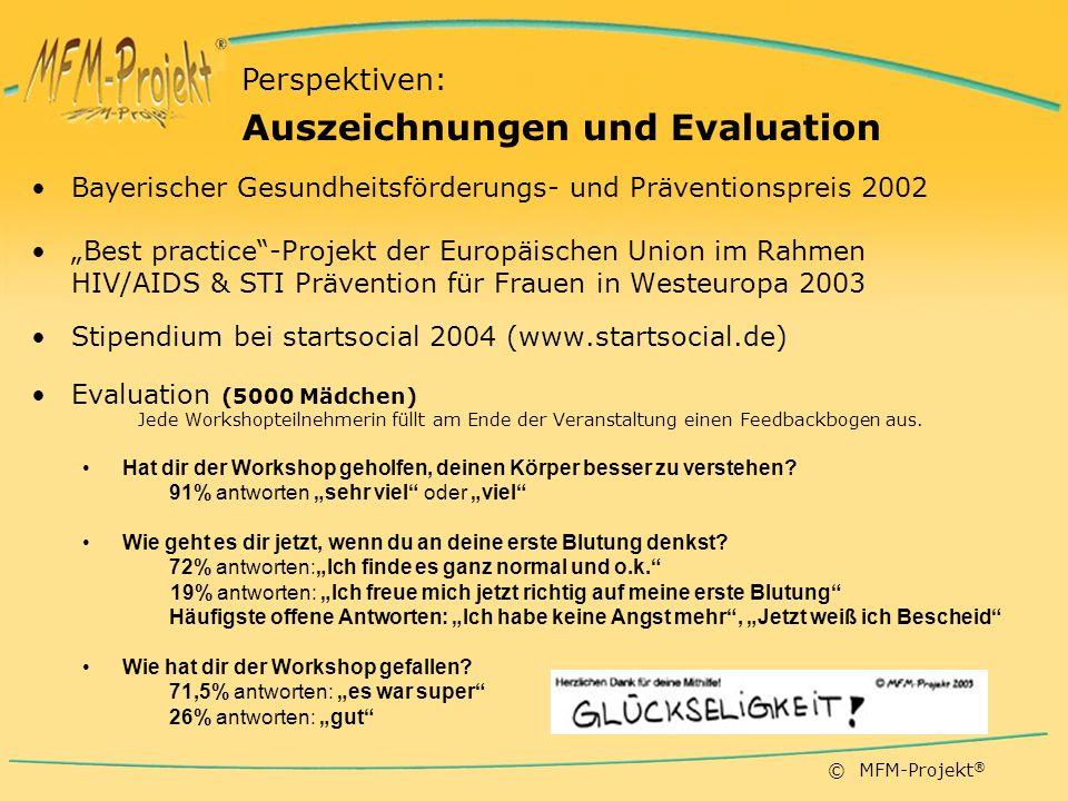 Auszeichnungen und Evaluation