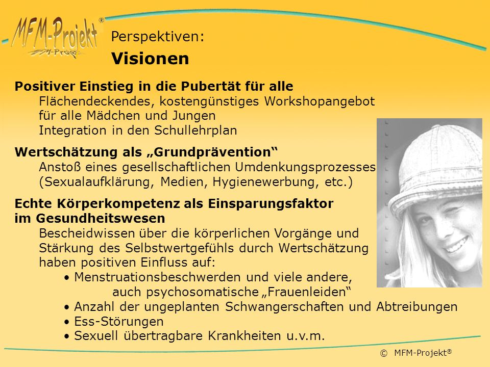 Visionen Perspektiven: Positiver Einstieg in die Pubertät für alle