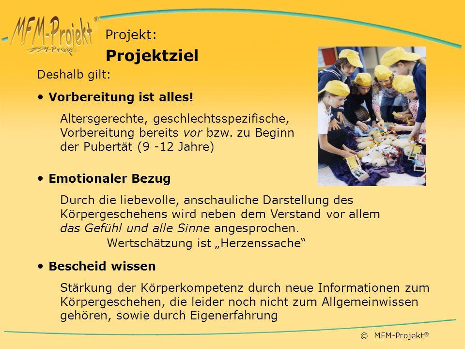 Projektziel Projekt: Vorbereitung ist alles! Emotionaler Bezug