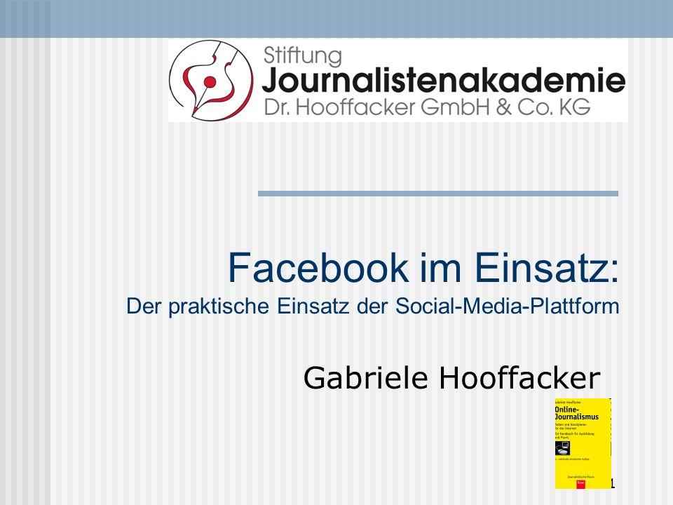 Facebook im Einsatz: Der praktische Einsatz der Social-Media-Plattform