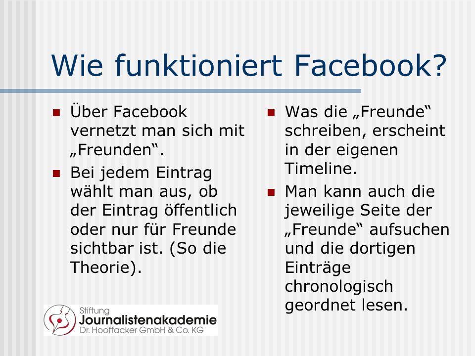 Wie funktioniert Facebook
